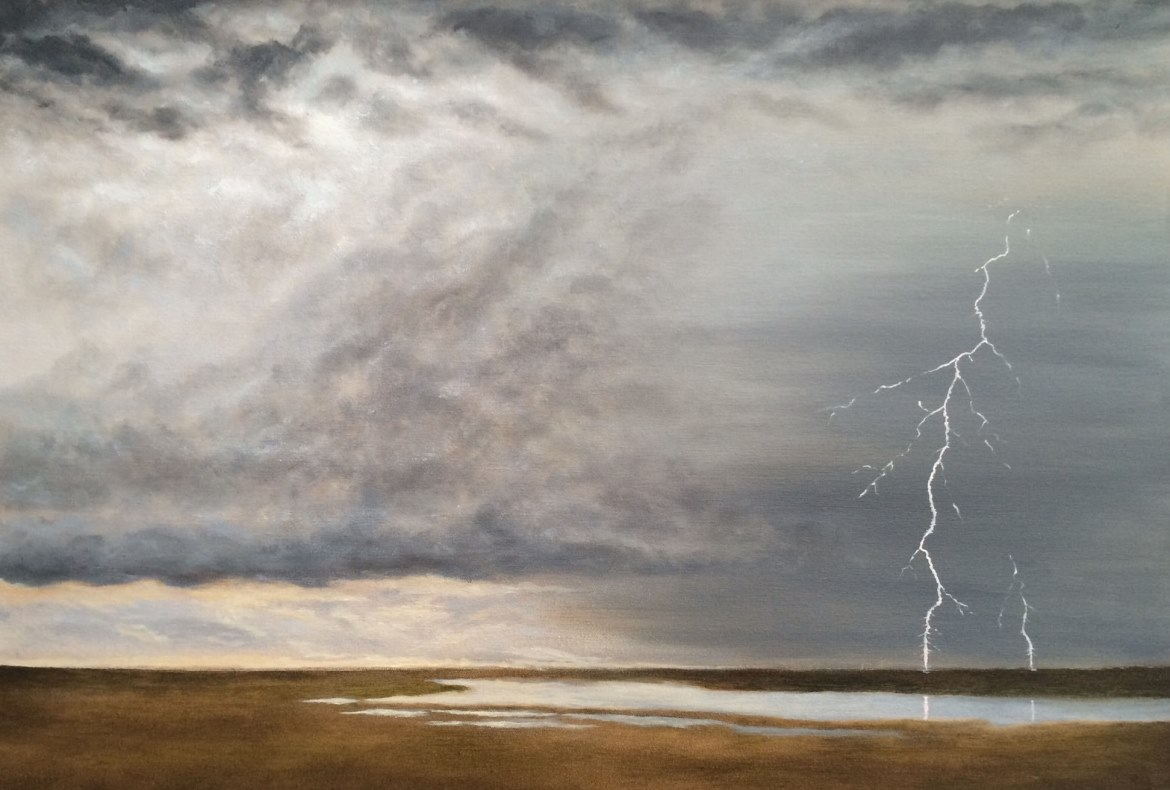 Thunderhead over Saltmarshes - 1170 x 790