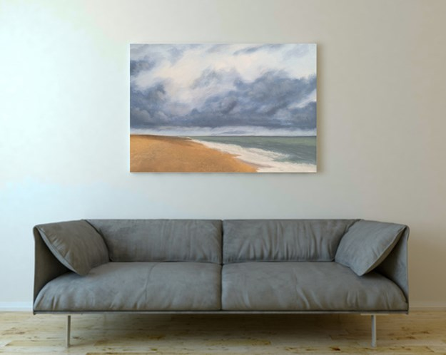 Big Skies Over Morston Oil Painting