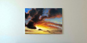 Sky On Fire Oil Painting