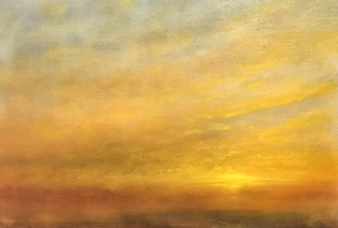 Last Light A Study in Oils by Nial Adams
