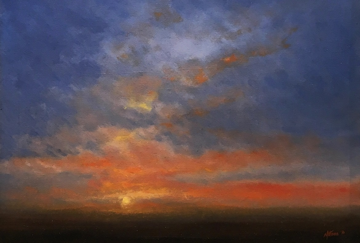 Sketching Sunsets Original Oil Painting