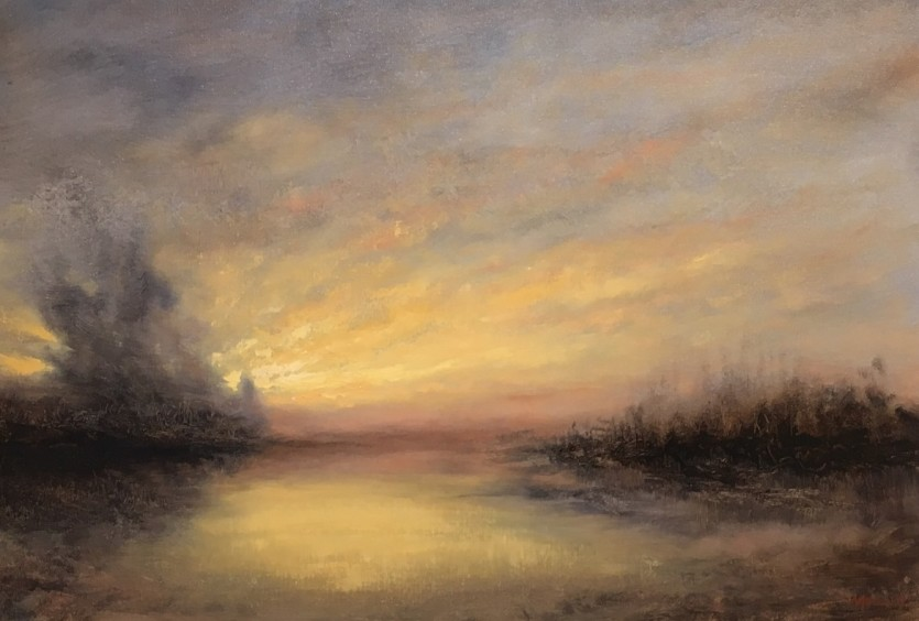 Winter Sunrise Oil Painting Nial Adams