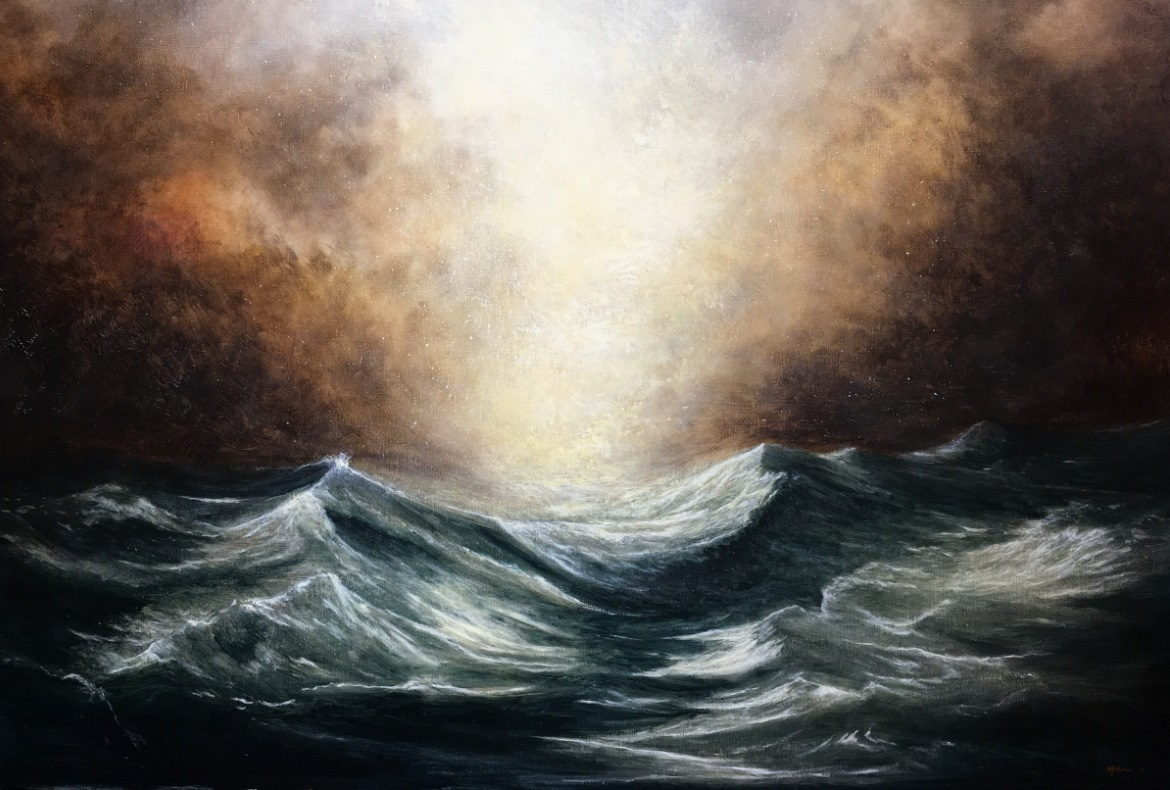 Force of Nature - Seascape Oil Painting Nial Adams