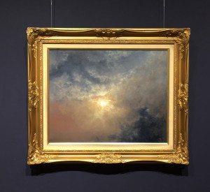 Looking Up Cloudscape Oil Painting by Nial Adams