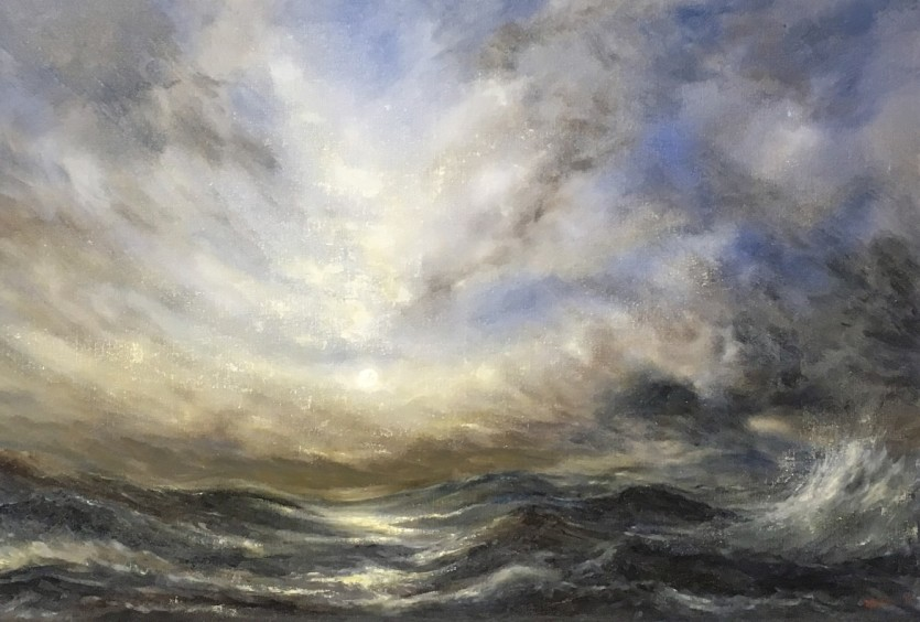 Seascape Oil Painting by Norfolk Artist Nial Adams