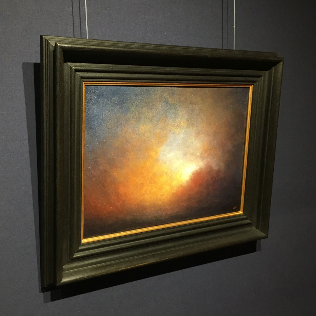Breaking Light At Sea - A Study Oil Painting by Nial Adams