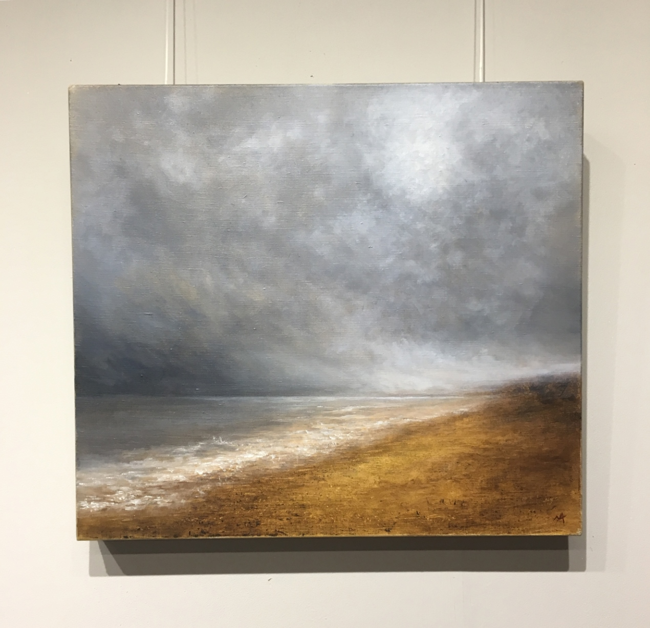 Bracing North Norfolk Coast - Oil Painting by Nial Adams