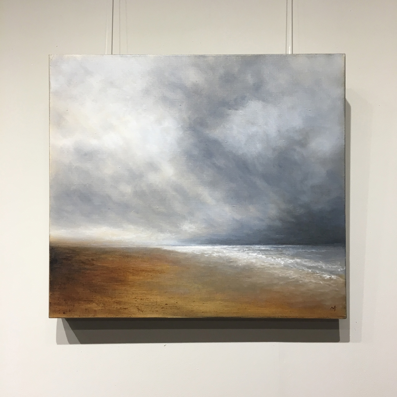 Windswept North Norfolk Coast - Oil Painting by Nial Adams