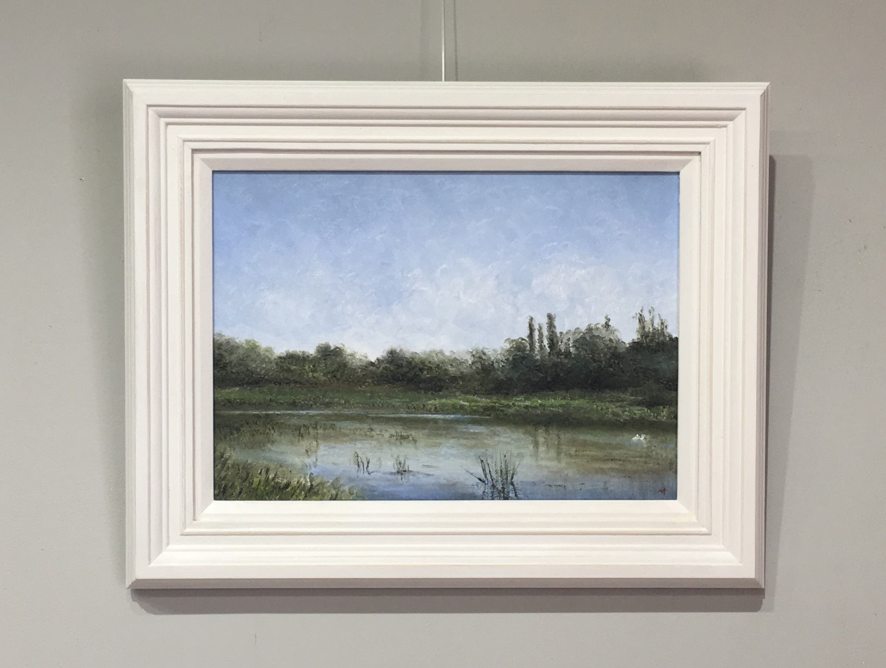 Bure at Lamas Buxton Mill Norfolk by Nial Adams Oil Painting