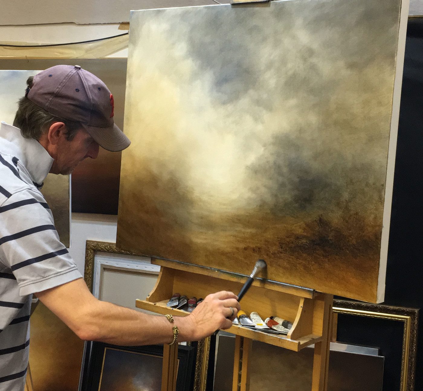 Nial Adams Painting Into A Haze Of Light