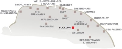 Oil Painting Course Blickling North Norfolk Map