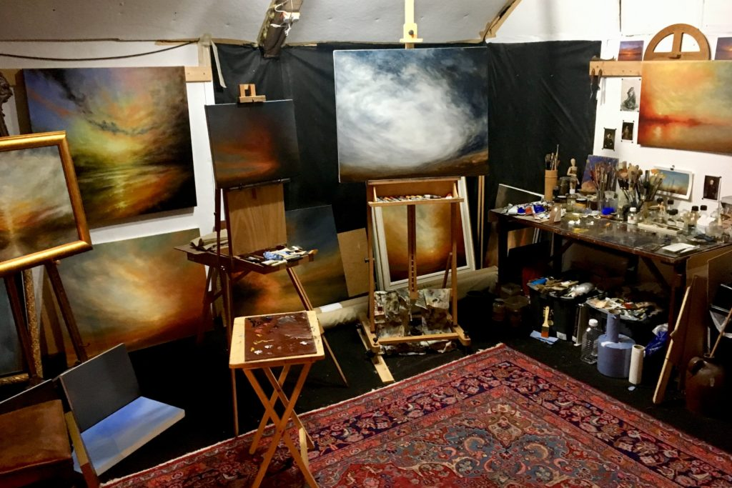 Nial Adams Artist Studio Norfolk