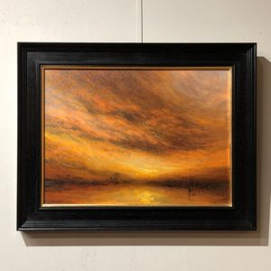 A Coastal Evening Sky Painting by Nial Adams