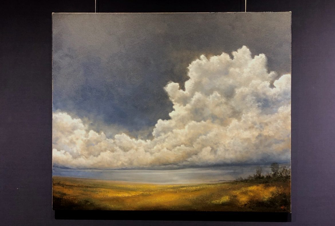 head in the clouds oil painting