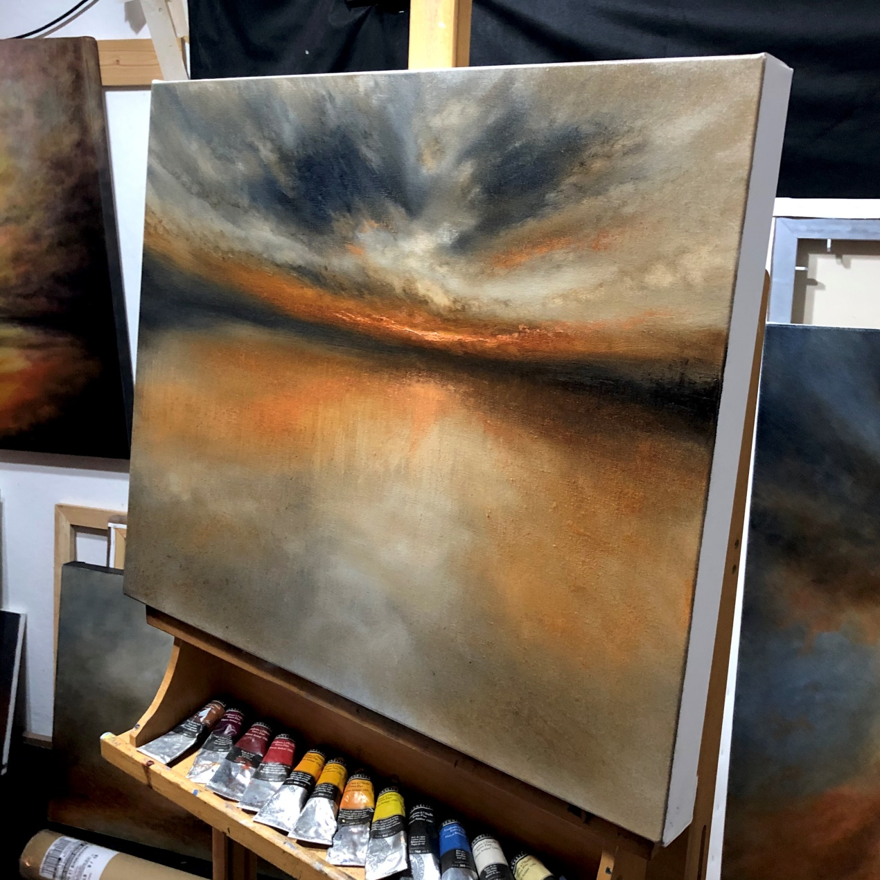 Evening Across The Broad - Oil Painting By Nial Adams FRSA