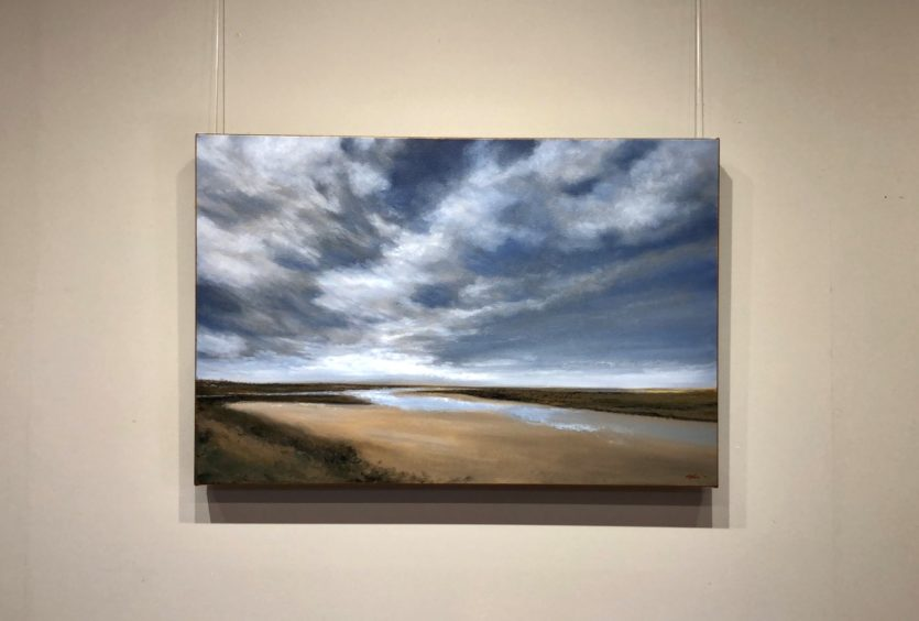 Summer Skies at Burnham Overy Staithe Oil Painting