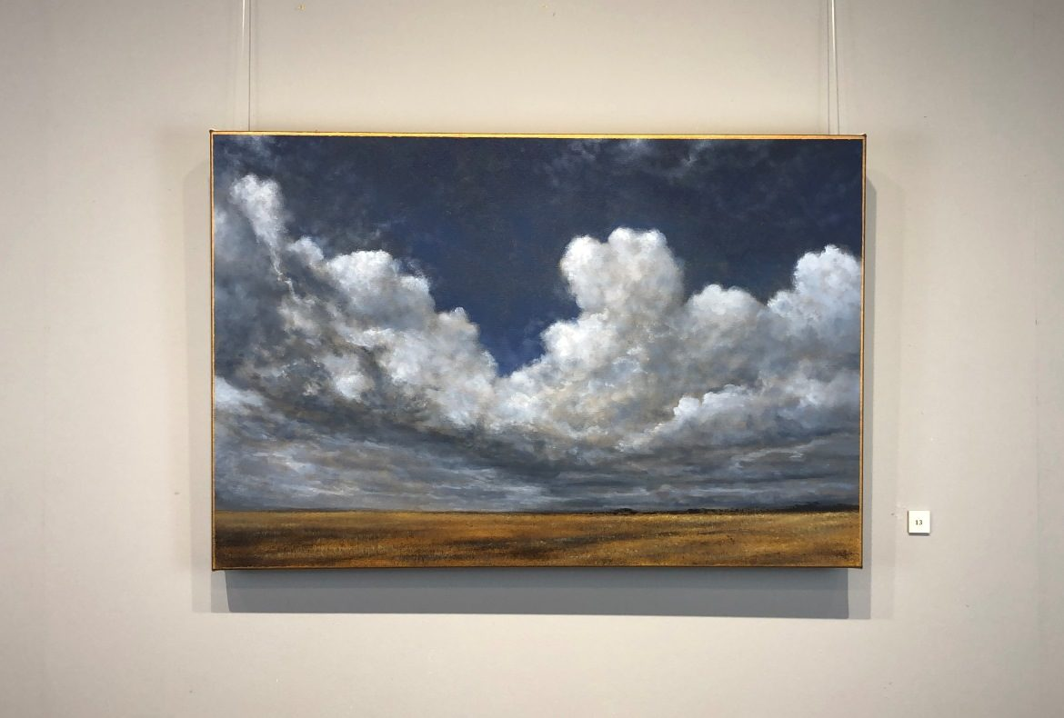 Summer Clouds Study Big Norfolk Skies Nial Adams Landscape Oil Painting