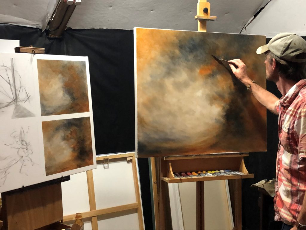 Touching The Sky Painting by Nial Adams