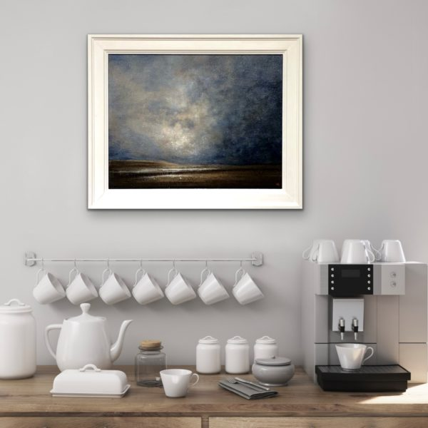leaden skies over salthouse oil painting